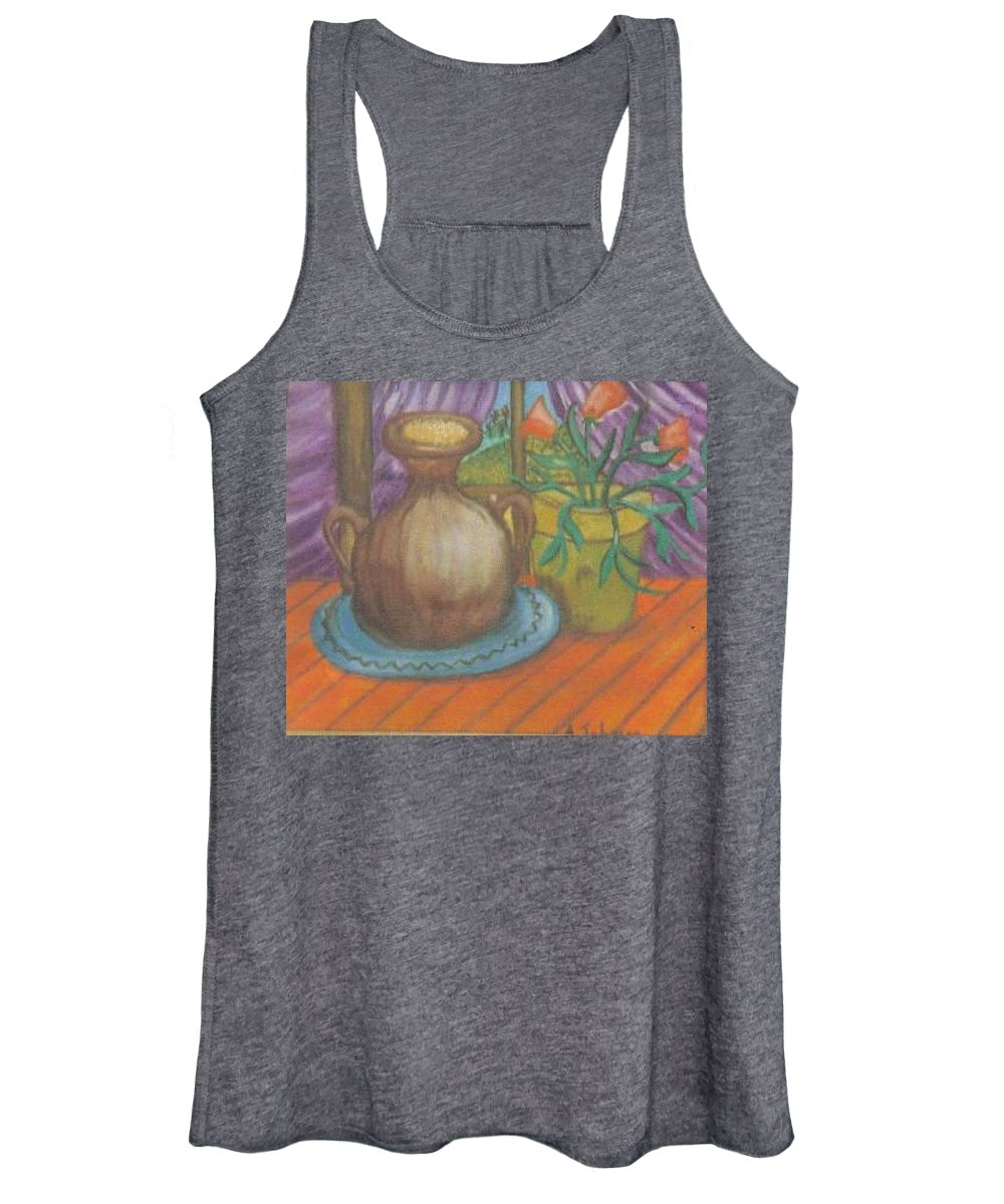 Still Life Women's Tank Top featuring the painting Work by Andrew Johnson