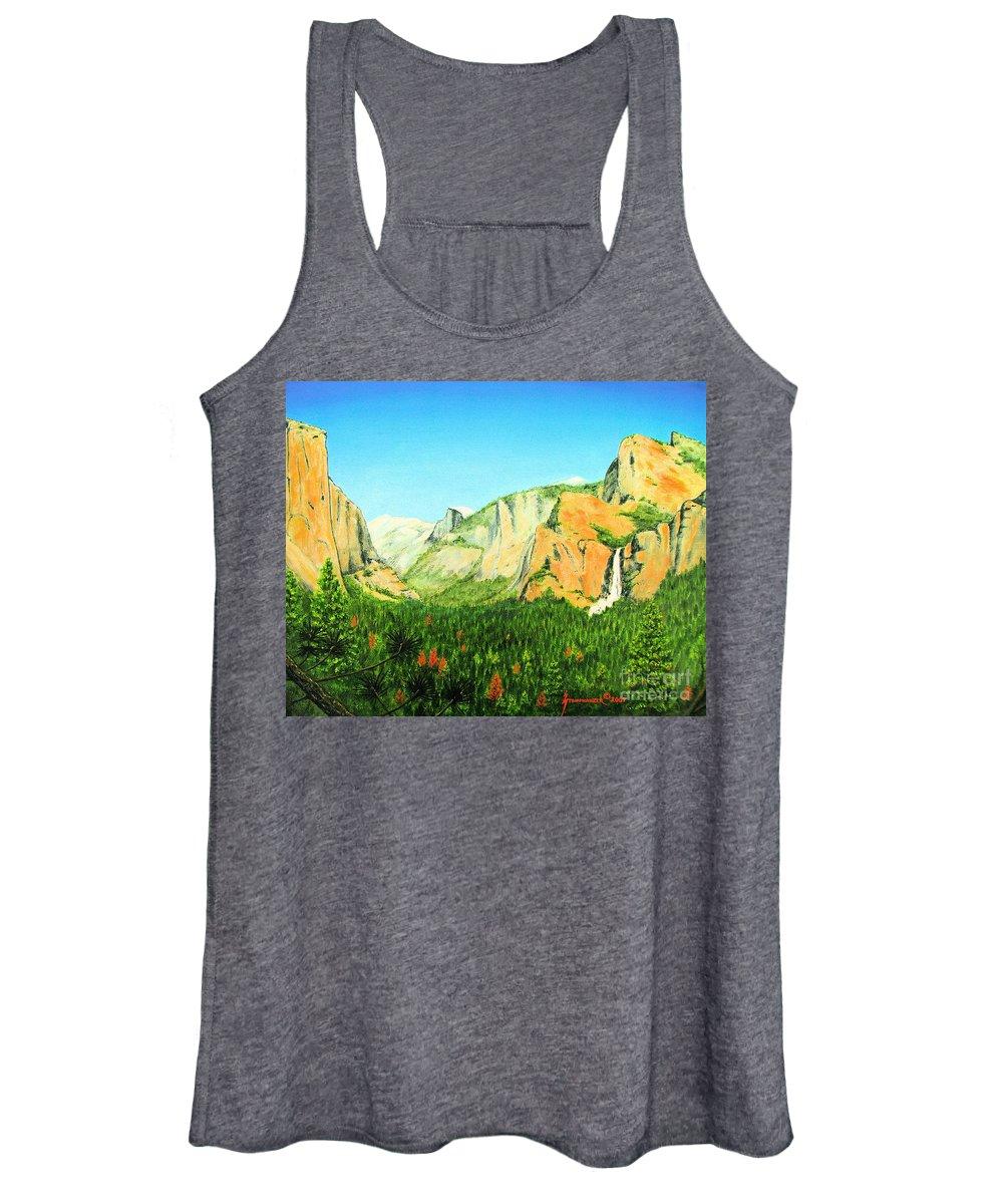 Yosemite National Park Women's Tank Top featuring the painting Yosemite National Park by Jerome Stumphauzer