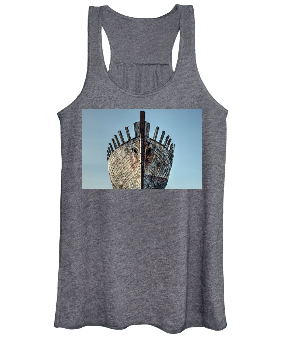 Shipwreck Women's Tank Top featuring the photograph Akranes - Iceland by Joana Kruse