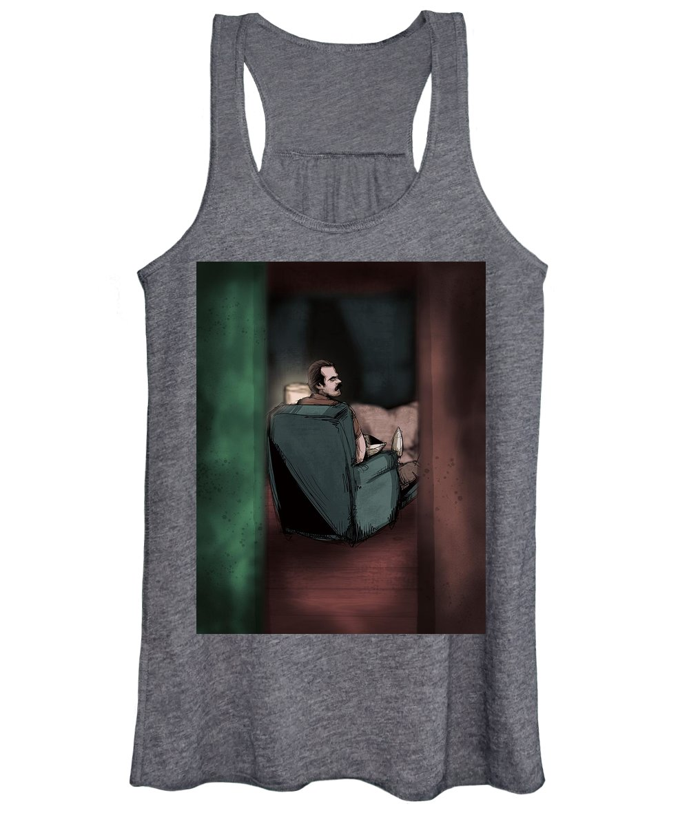 Eleven Women's Tank Top featuring the drawing Three Inches by Ludwig Van Bacon
