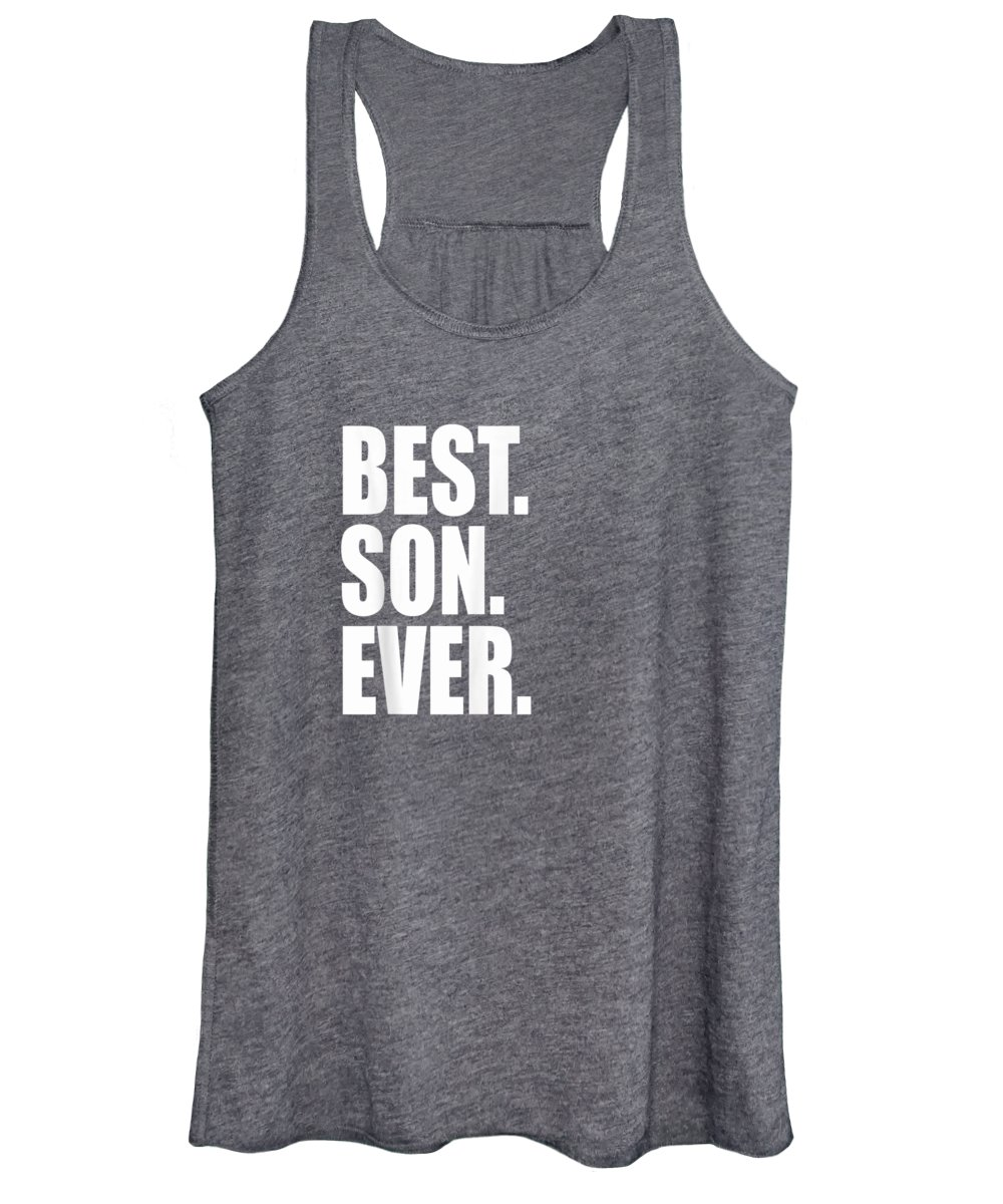 Women's Tank Top featuring the digital art Best Son Ever T Shirt Father Son Shirt by Unique Tees