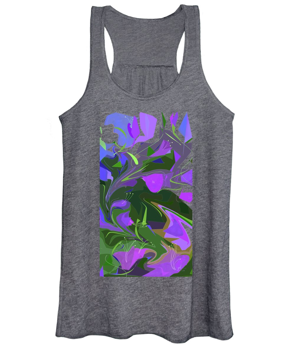 Abstract Women's Tank Top featuring the digital art Corner Flower Shop by Gina Harrison
