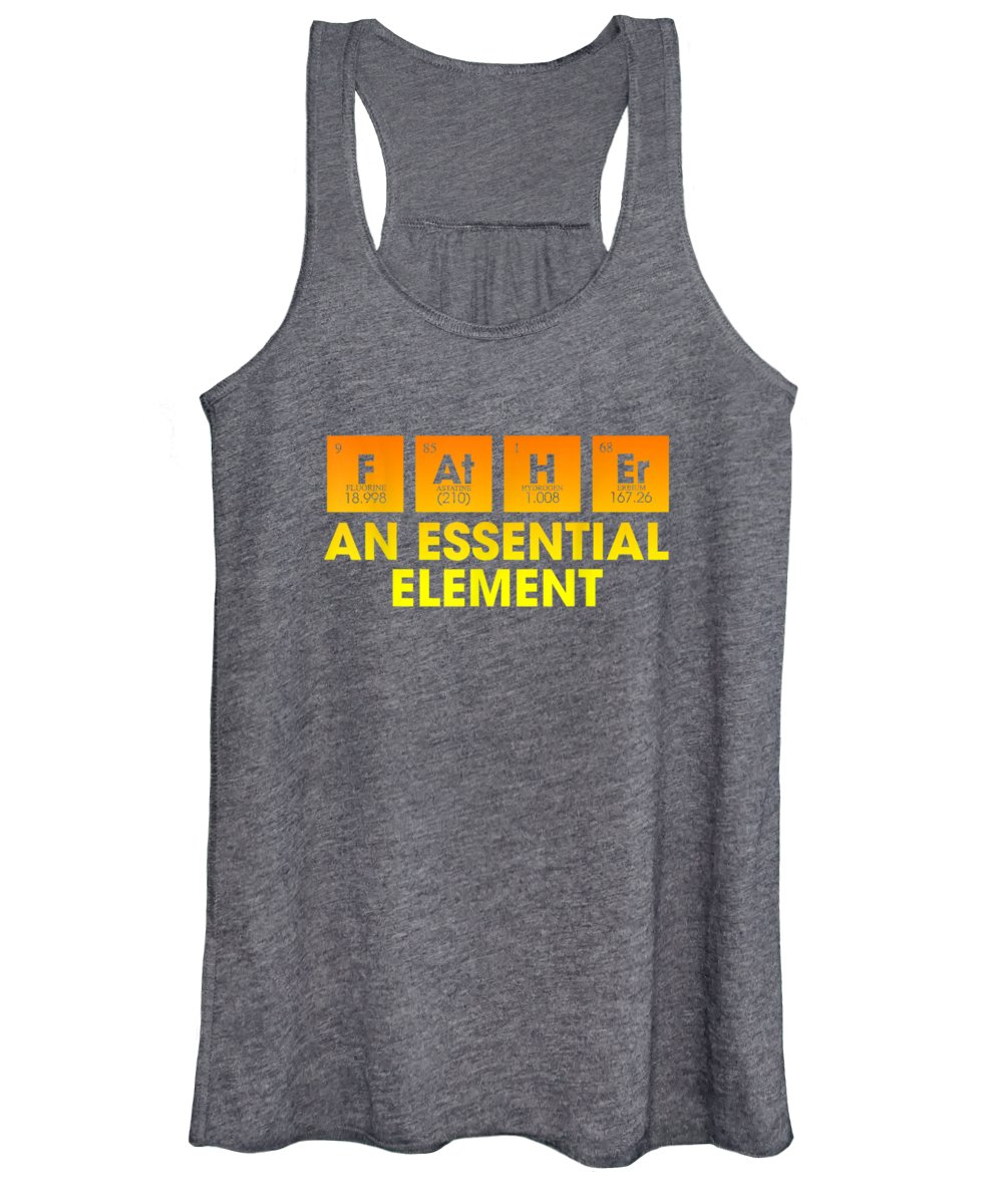 girls' Novelty Clothing Women's Tank Top featuring the digital art Dad An Essential Element Father's Day Periodic Table Tshirt T-shirt by Unique Tees