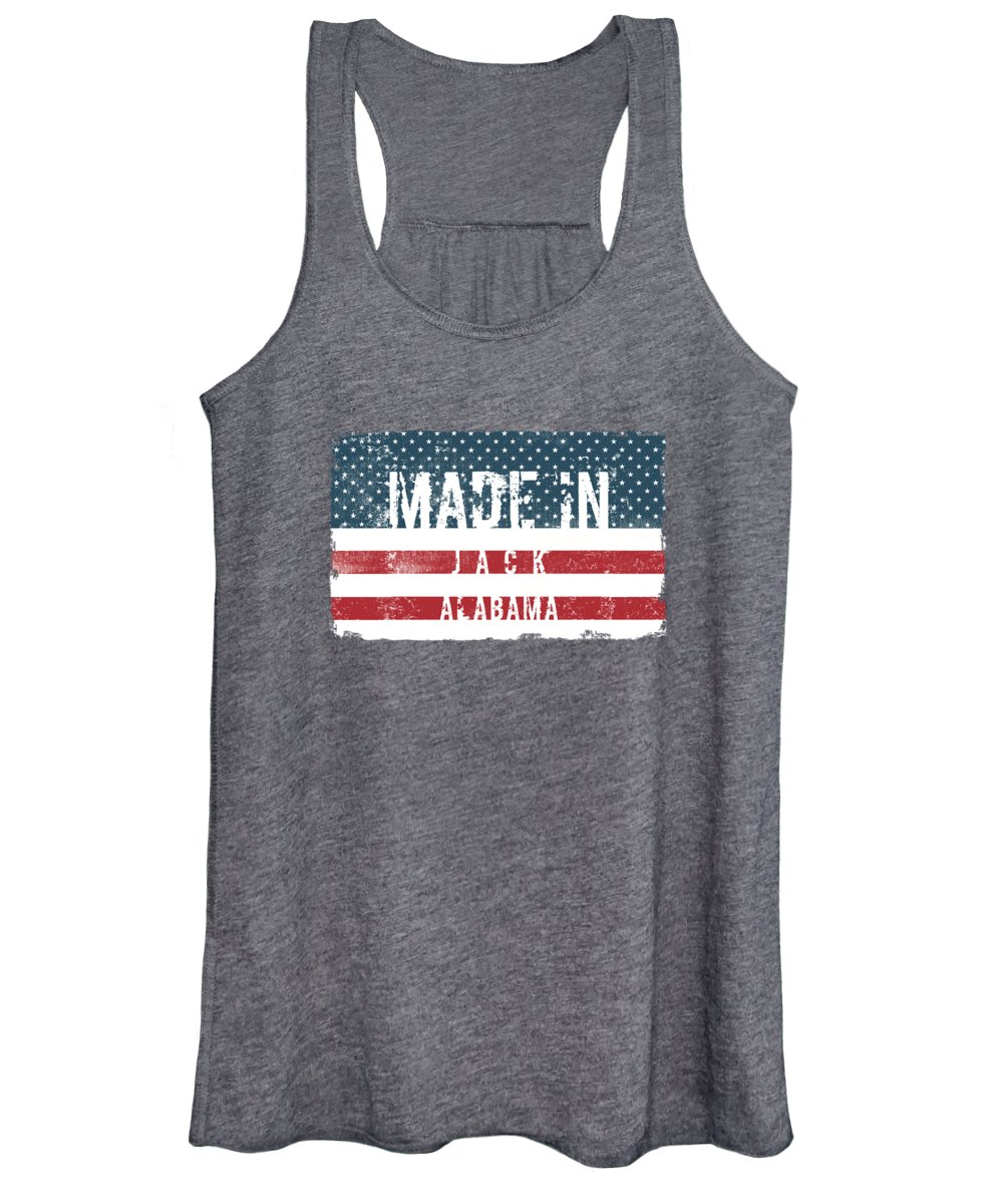 Jack Women's Tank Top featuring the digital art Made In Jack, Alabama by TintoDesigns