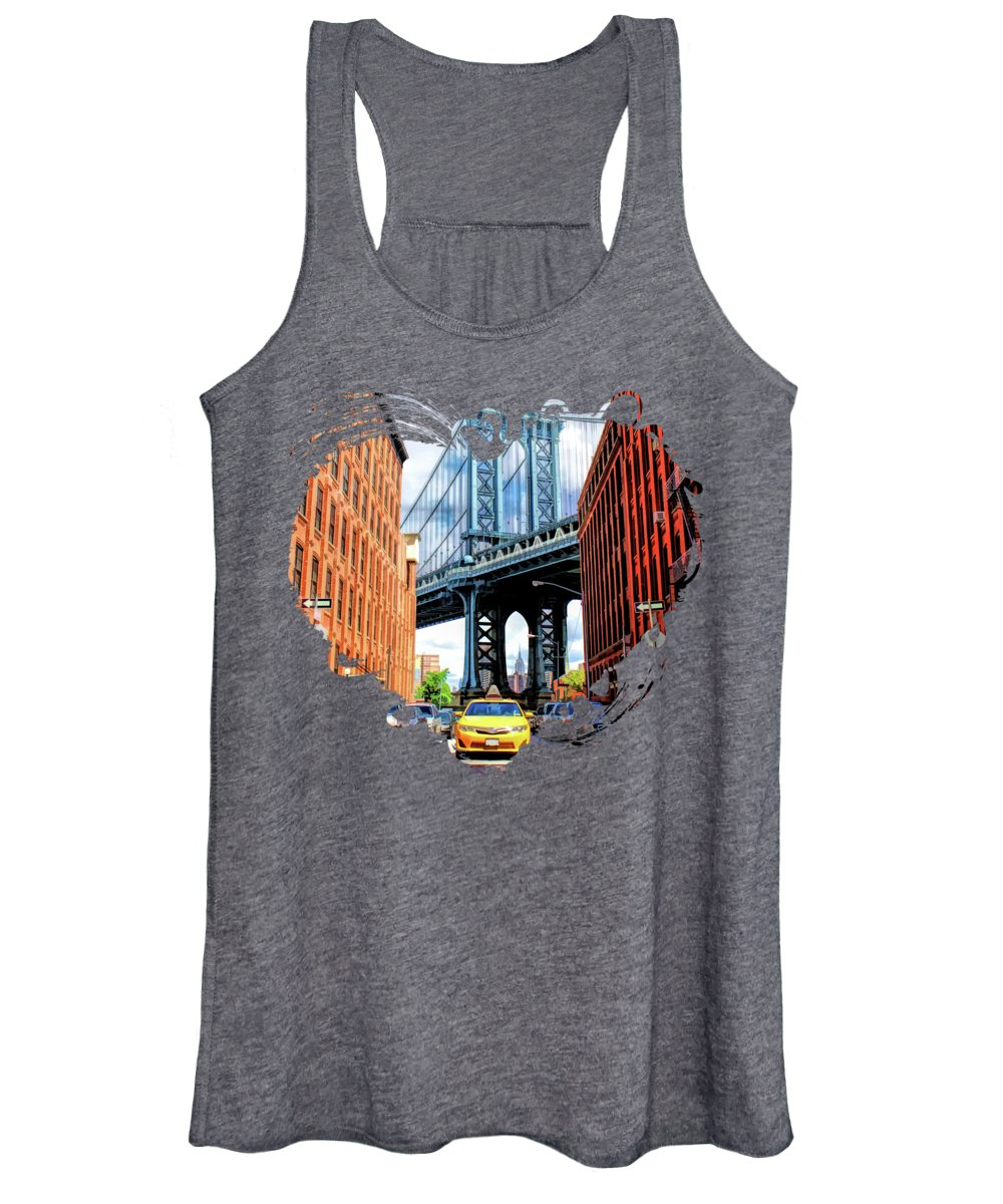New York Taxi Paintings Women's Tank Tops