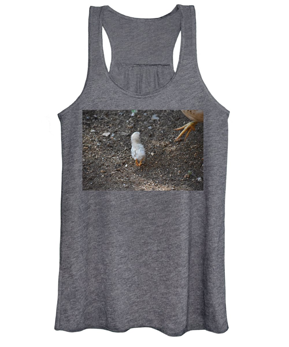 Baby Chick Women's Tank Top featuring the digital art Orange Feet by Cassidy Marshall