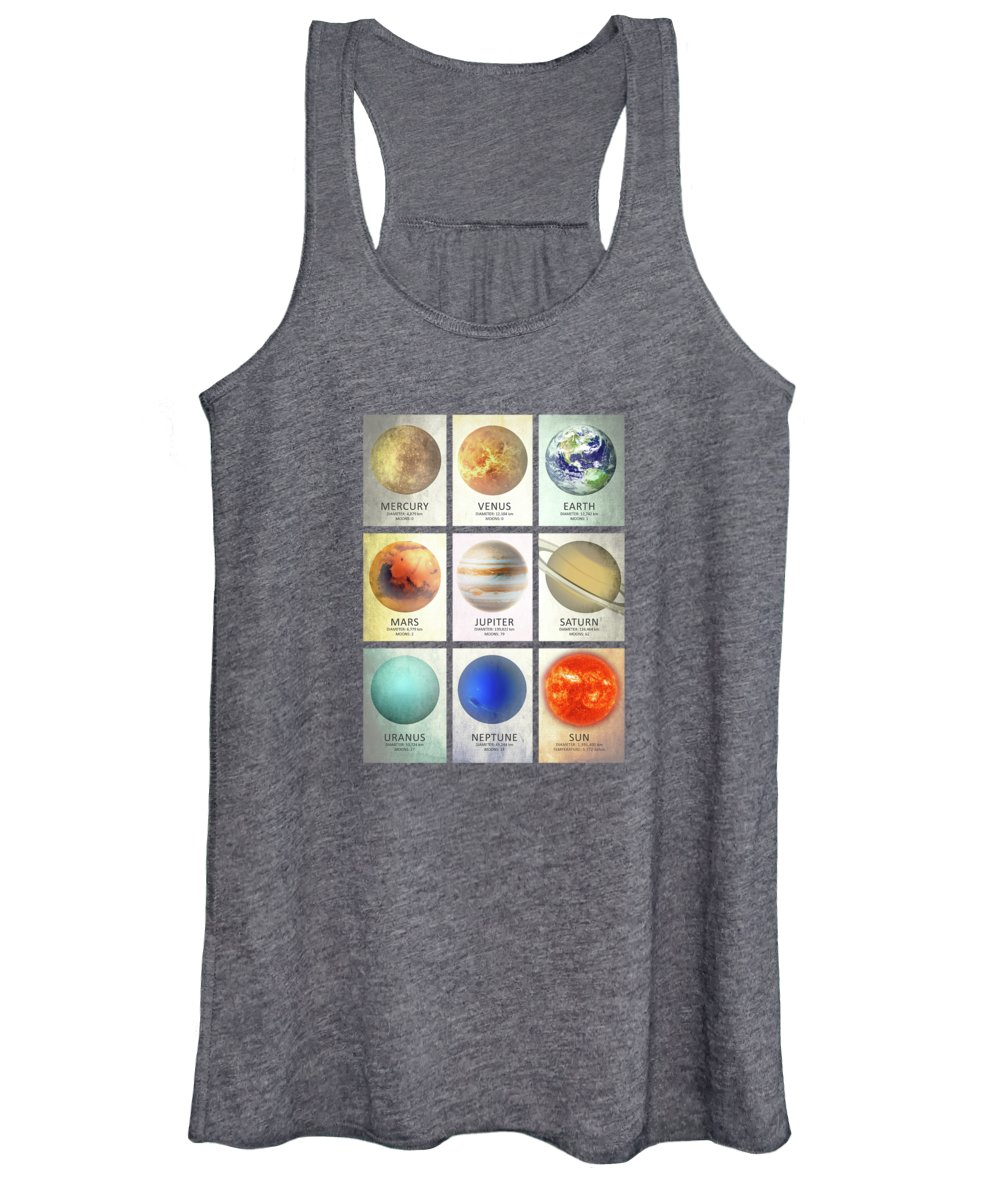 Solar Planets Photographs Women's Tank Tops
