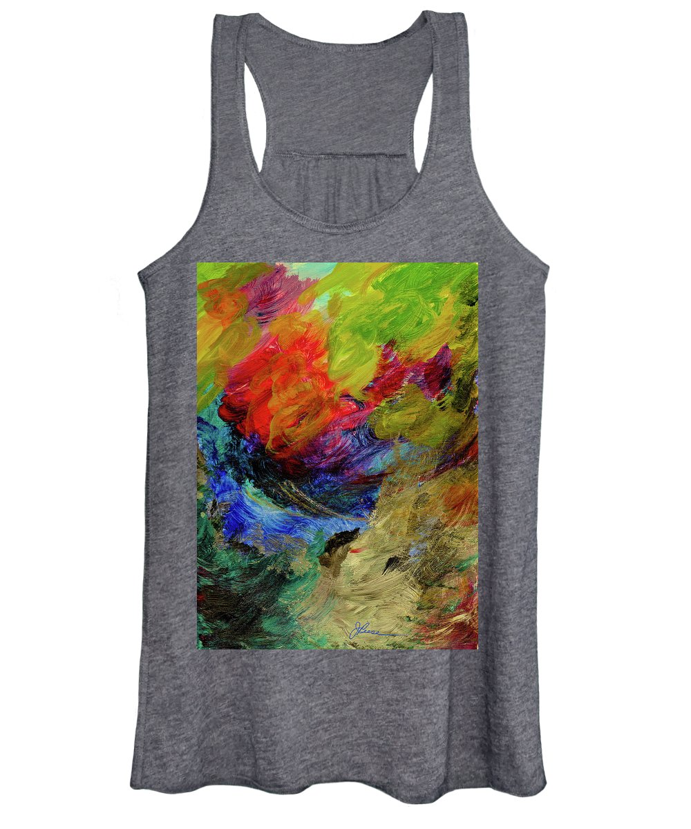 Red Women's Tank Top featuring the painting Time Changes by Joan Reese