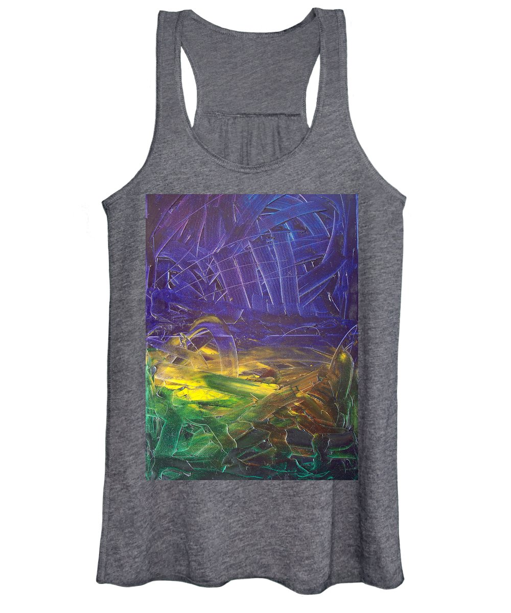 Painting Women's Tank Top featuring the painting Forest. Part2 by Sergey Bezhinets