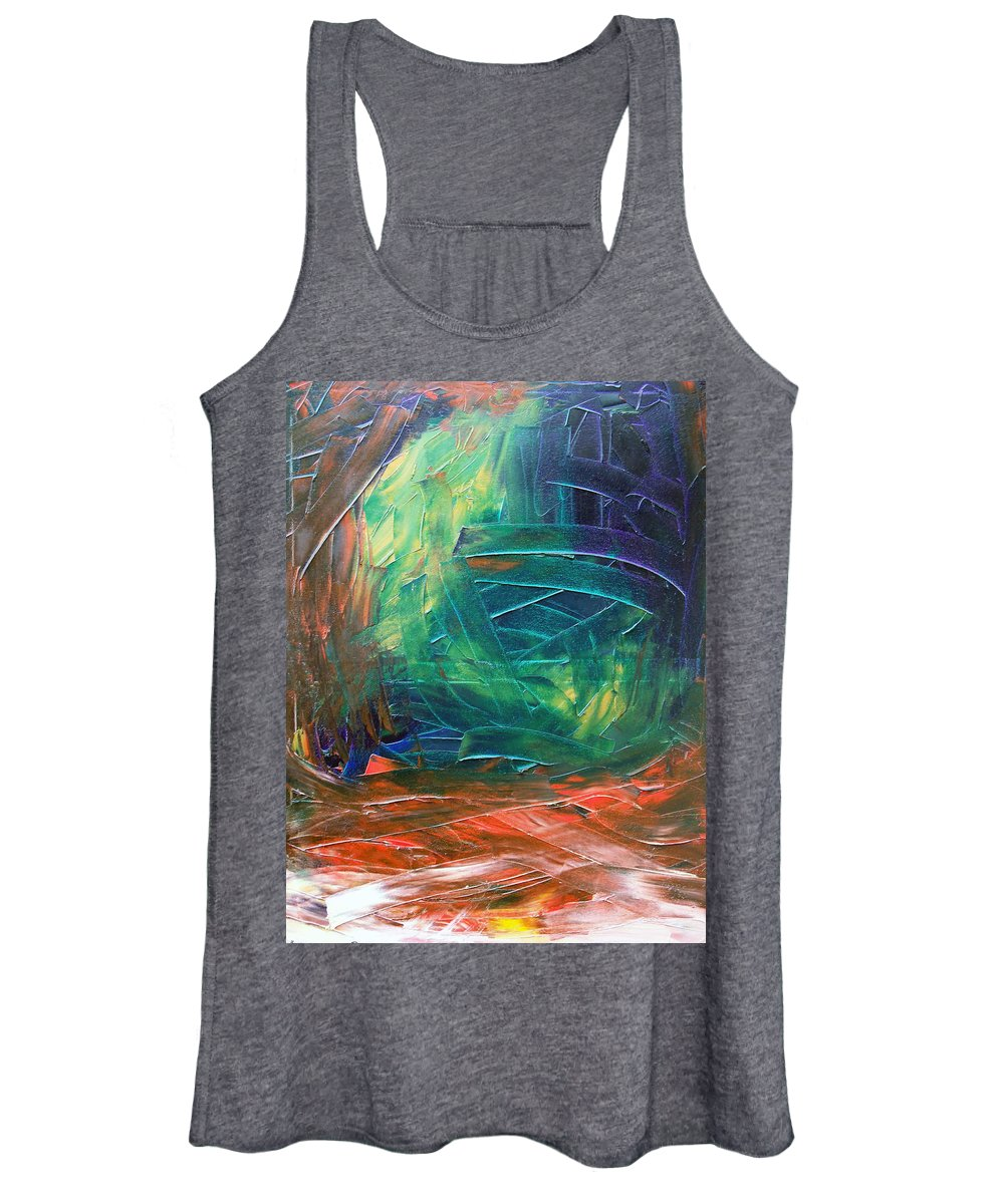 Painting Women's Tank Top featuring the painting Forest.Part3 by Sergey Bezhinets