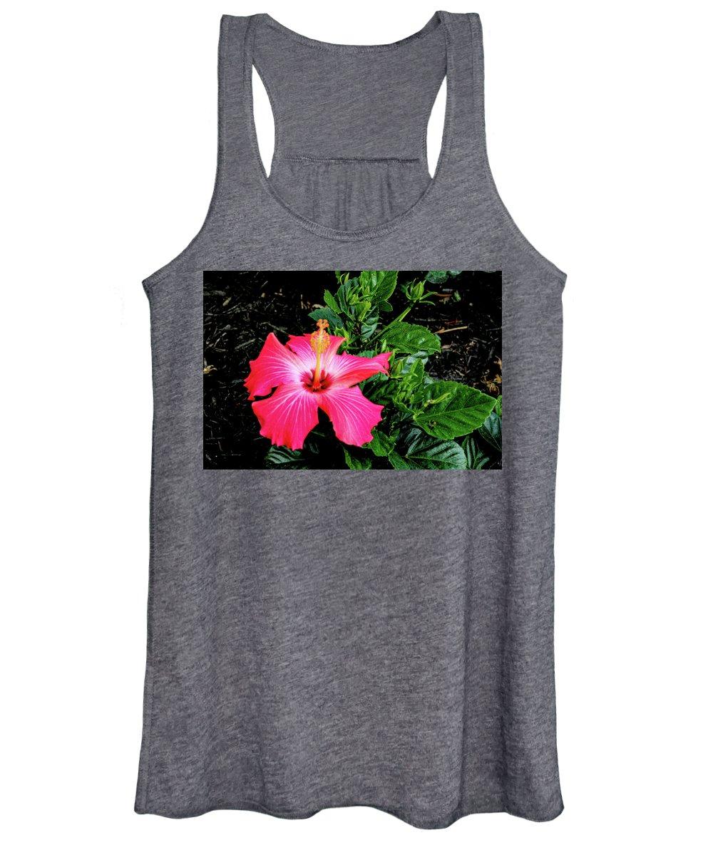 Flower Women's Tank Top featuring the digital art La cayena by Daniel Cornell