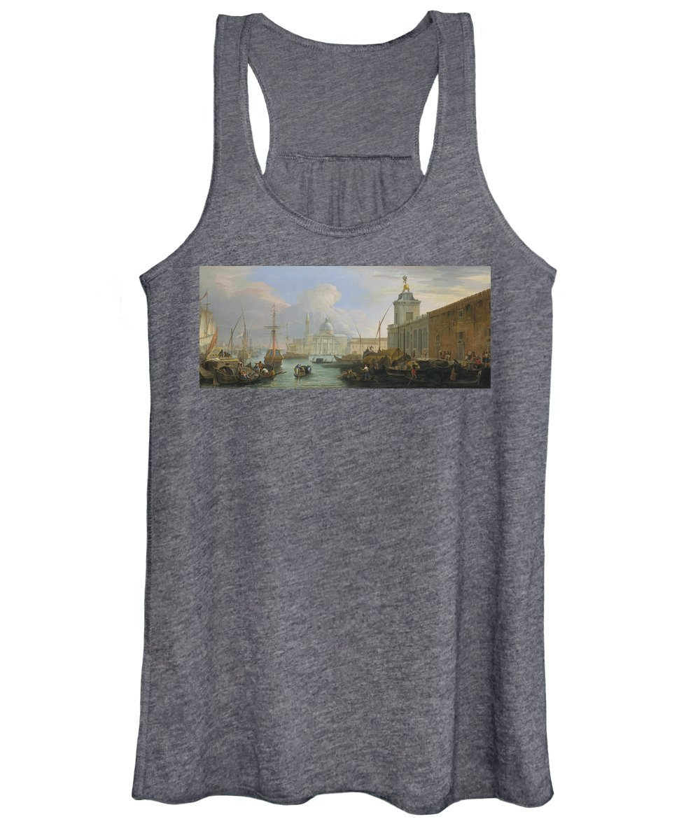 18th Century Painters Women's Tank Top featuring the painting The Bacino, Venice, With The Dogana And A Distant View by Luca Carlevaris