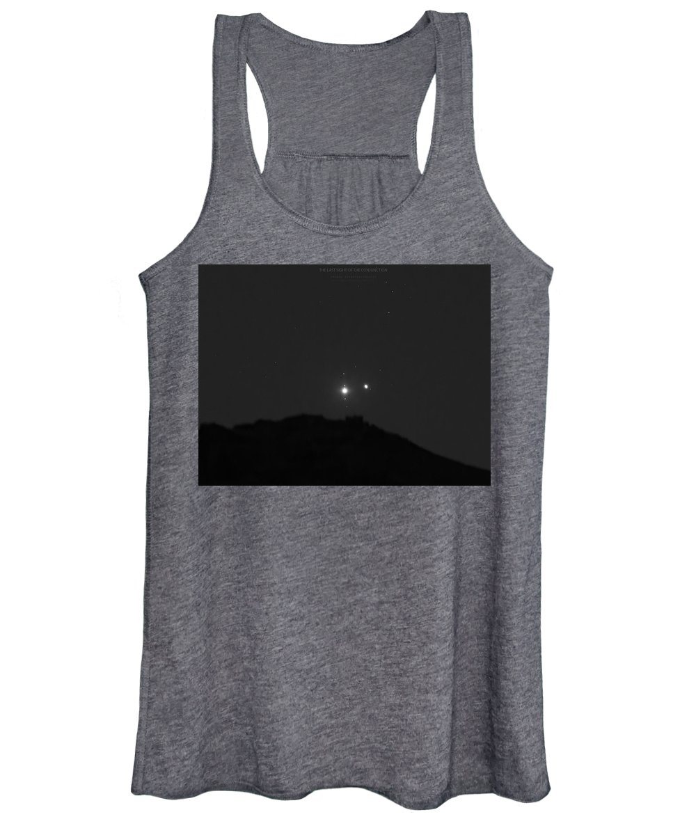 Women's Tank Top featuring the photograph The Last sight of the Conjunction by Prabhu Astrophotography