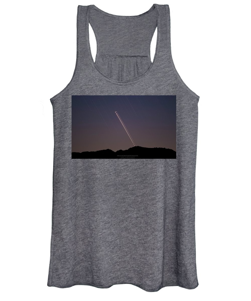 Women's Tank Top featuring the photograph Trails of the Great Planetary Conjunction by Prabhu Astrophotography