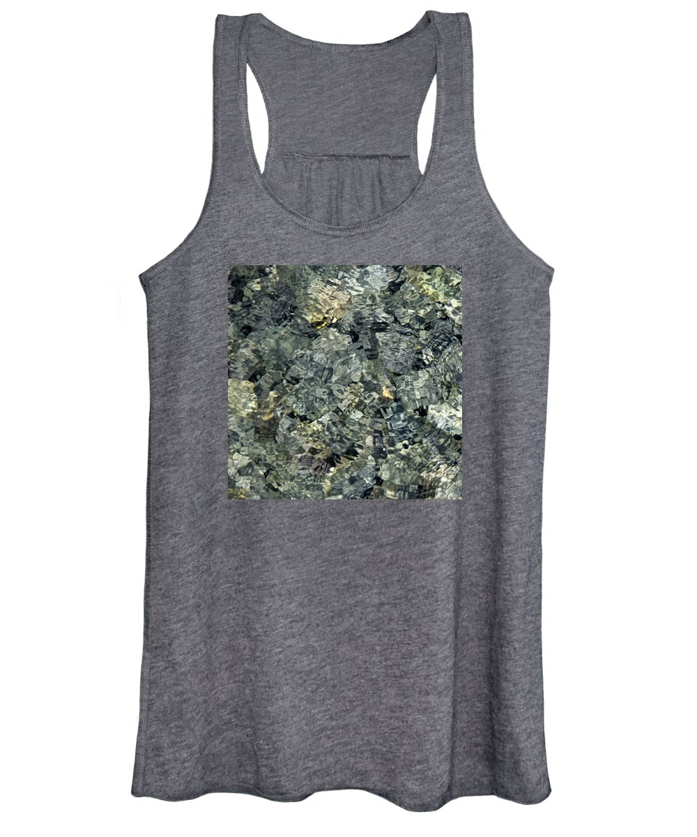 Water Women's Tank Top featuring the photograph Water Rocks 1 by Andre Aleksis