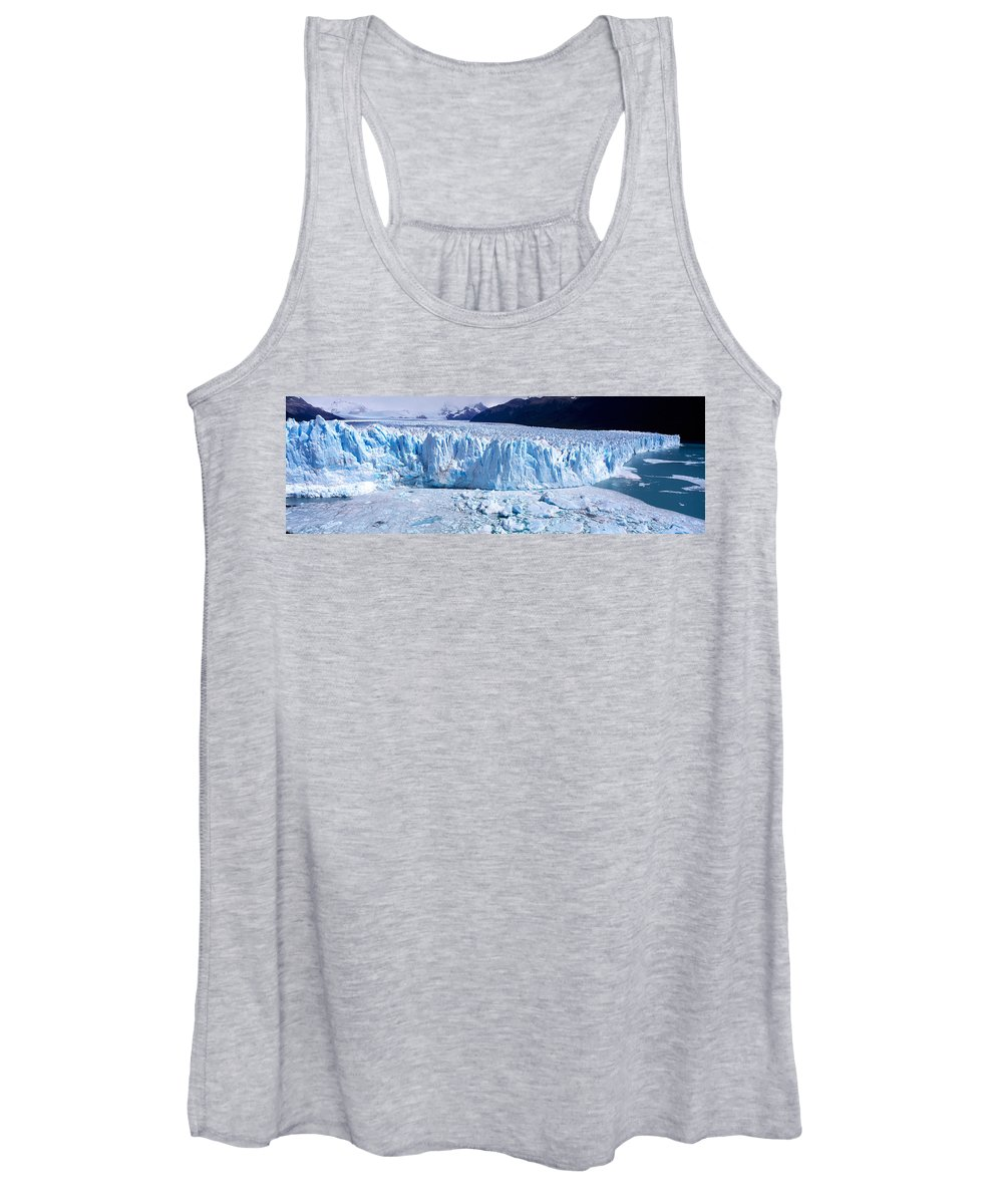 Photography Women's Tank Top featuring the photograph Glacier, Moreno Glacier, Argentine by Panoramic Images