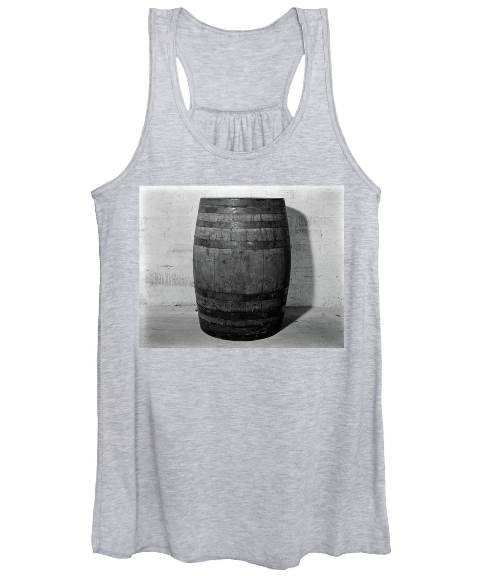 Photography Women's Tank Top featuring the photograph 1930s 1933 Single Wooden Whisky Barrel by Vintage Images