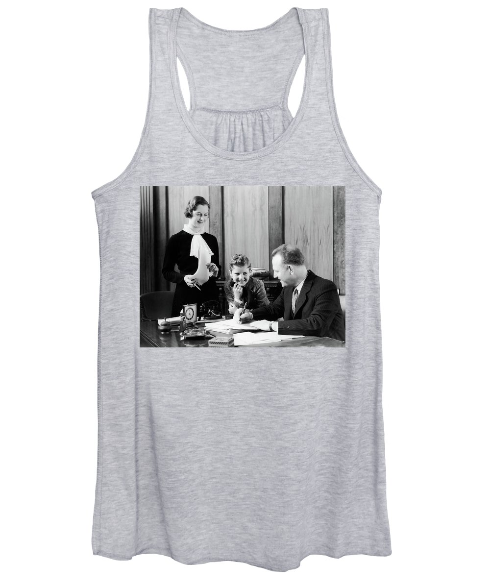 Photography Women's Tank Top featuring the photograph 1930s Little Boy Leaning by Vintage Images