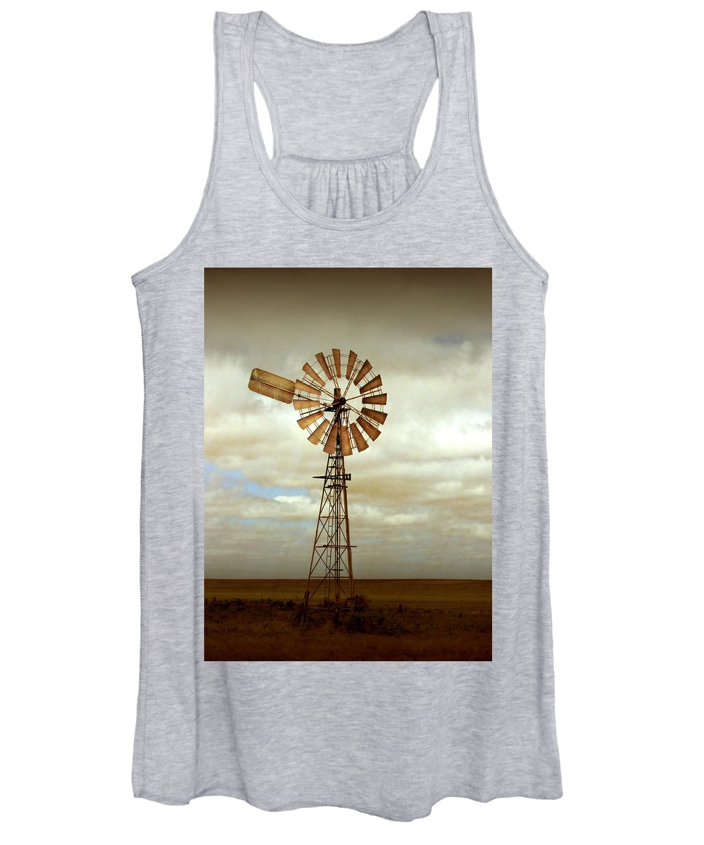 Windmill Women's Tank Top featuring the photograph Catch The Wind by Holly Kempe