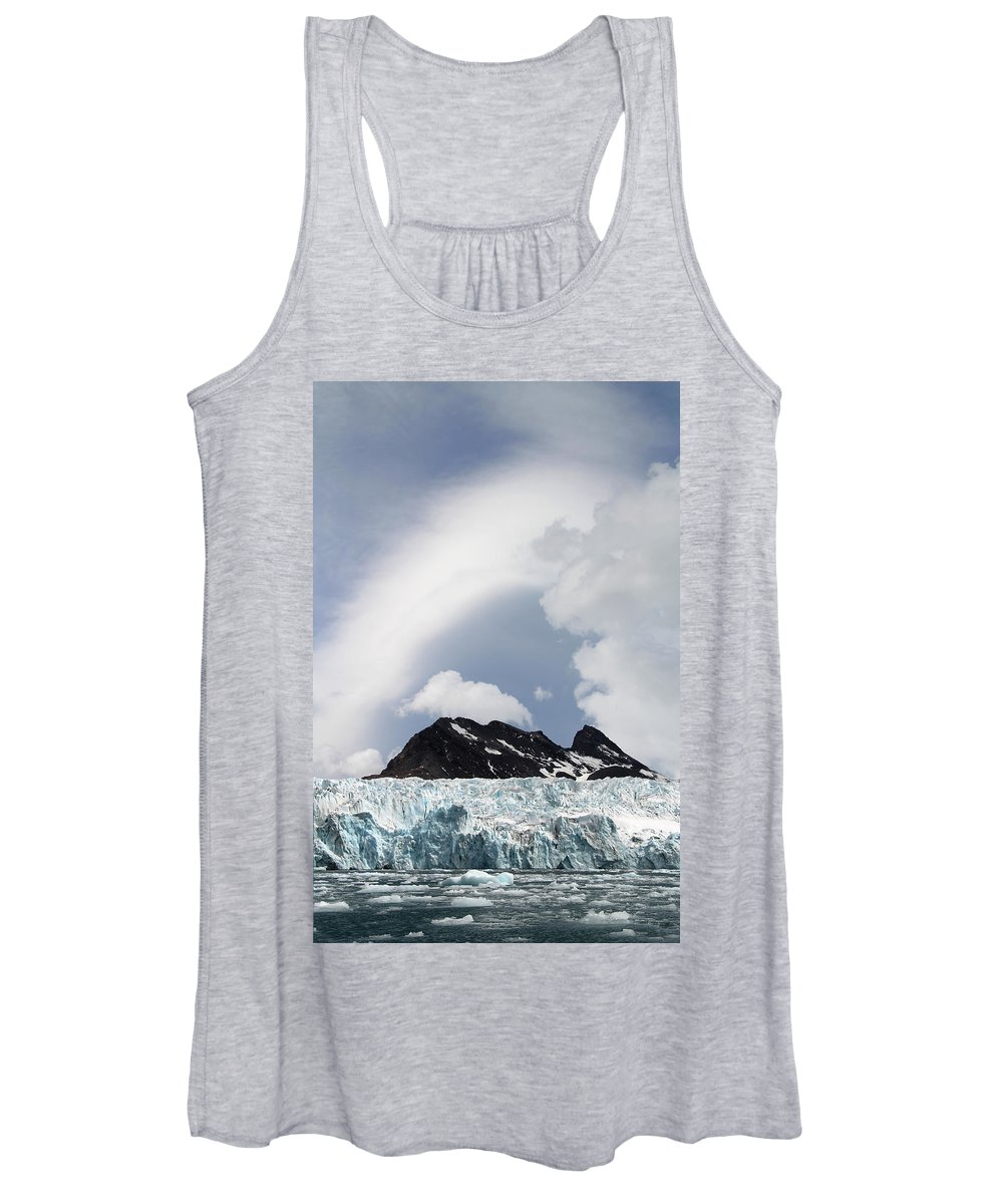 Clouds Women's Tank Top featuring the photograph Clouds At Royal Bay by Ginny Barklow