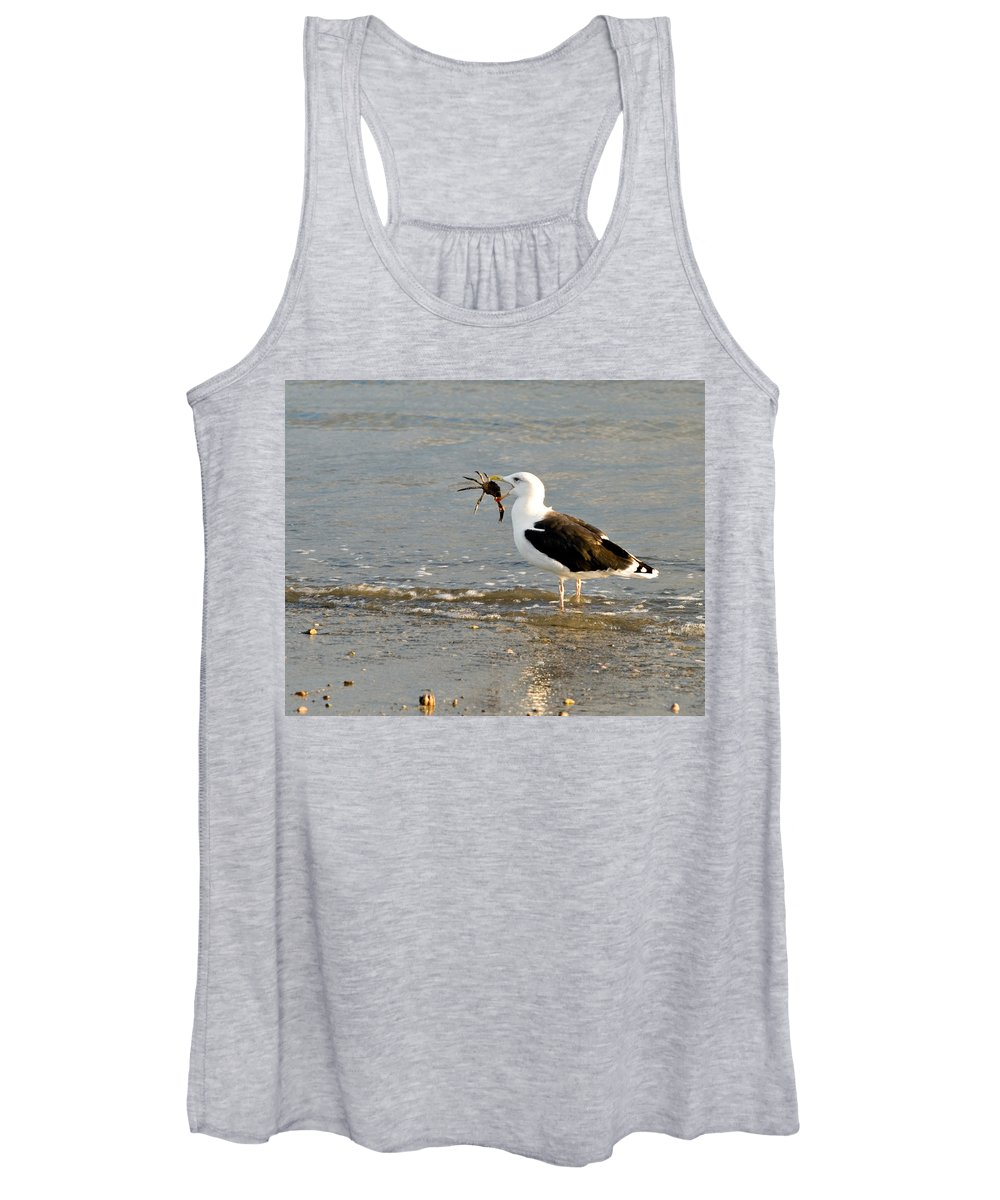 Seagull Women's Tank Top featuring the photograph Crab for Dinner by Renee Cline