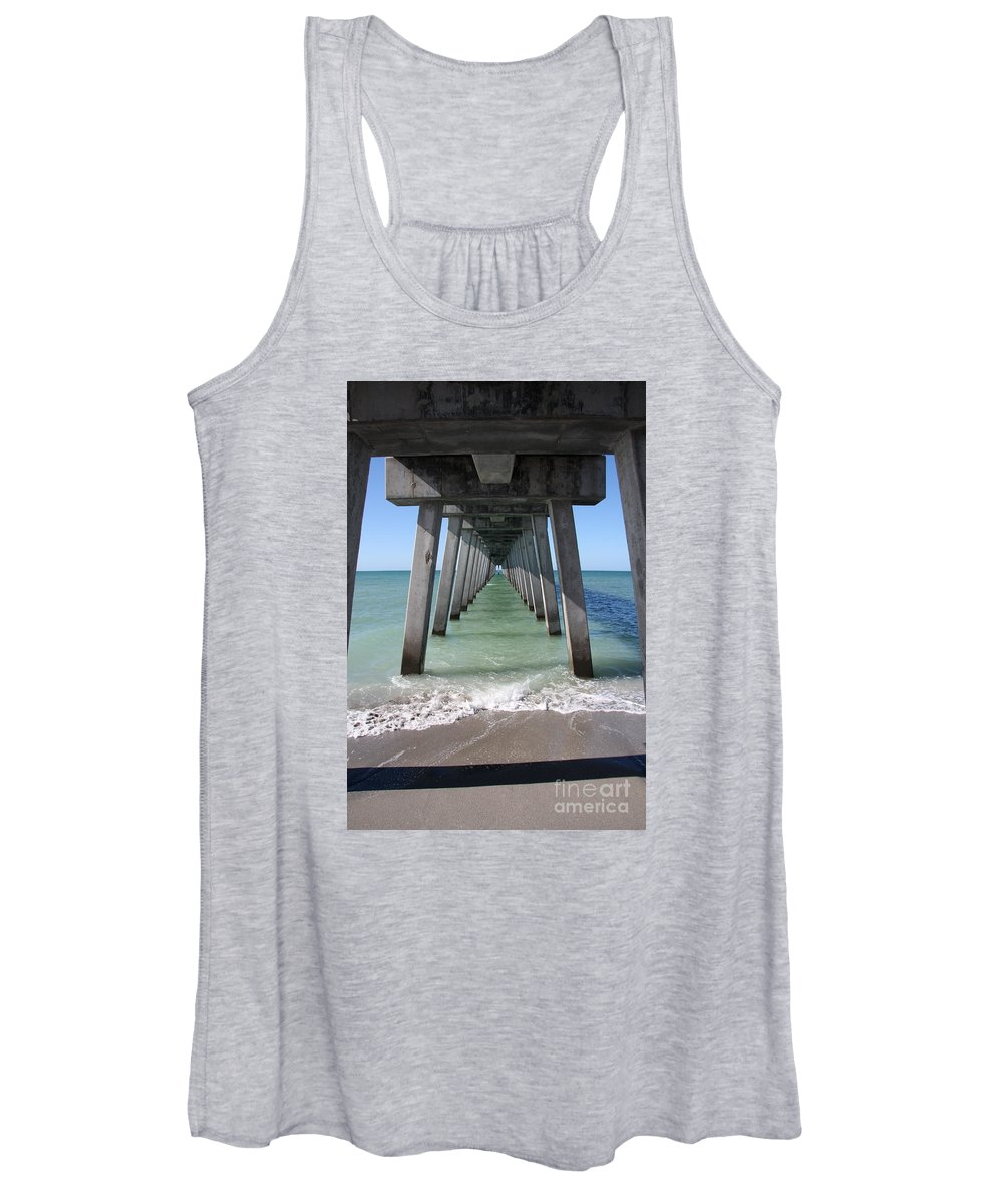 Architecture Women's Tank Top featuring the photograph Fishing Pier Architecture by Christiane Schulze Art And Photography