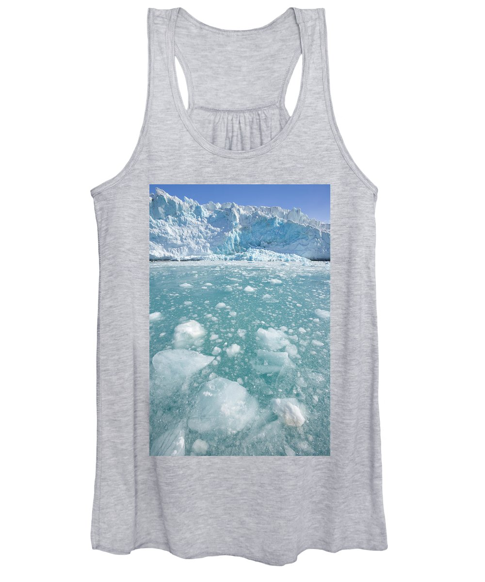 00345961 Women's Tank Top featuring the photograph Fortuna Glacier Descending To Antarctic by