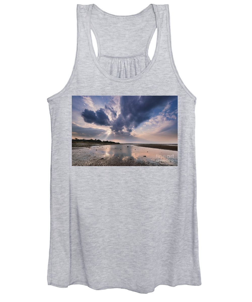 Greenan Women's Tank Top featuring the photograph Greenan Beach by Rod McLean