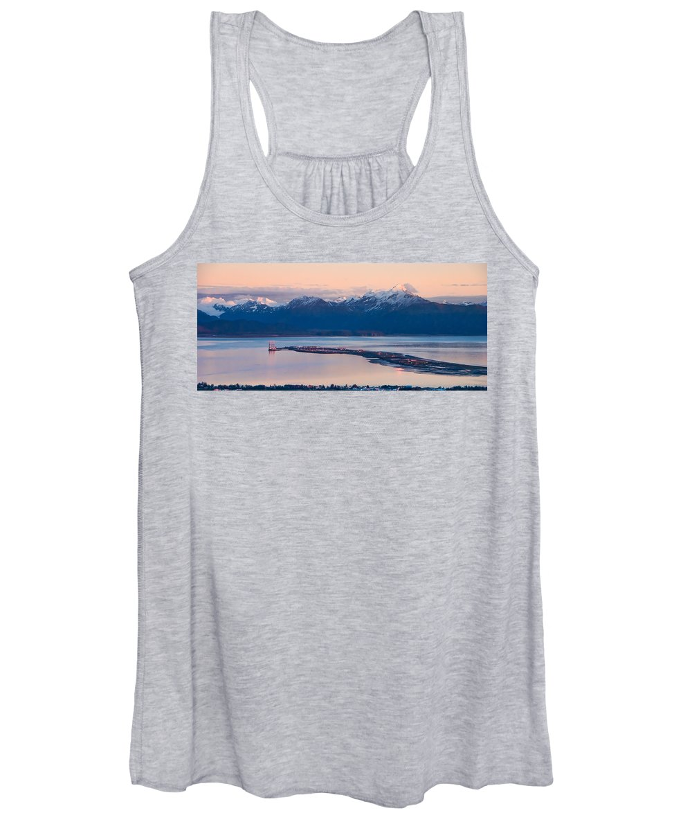 Kachemak Bay At Sunset Women's Tank Top featuring the photograph Kachemak Bay At Sunset by Phyllis Taylor