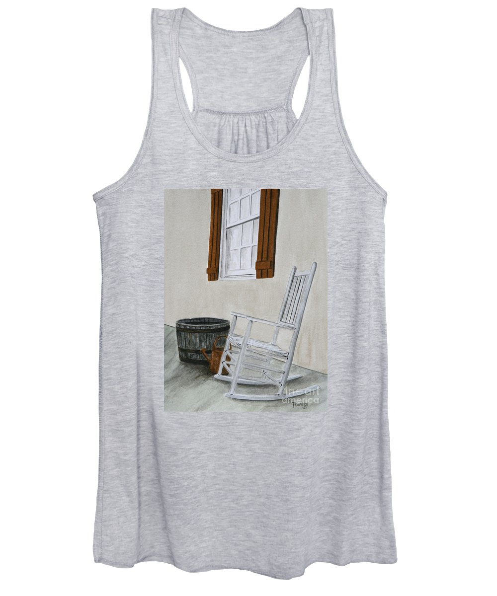 Americana Women's Tank Top featuring the painting Lazy Day by Regan J Smith