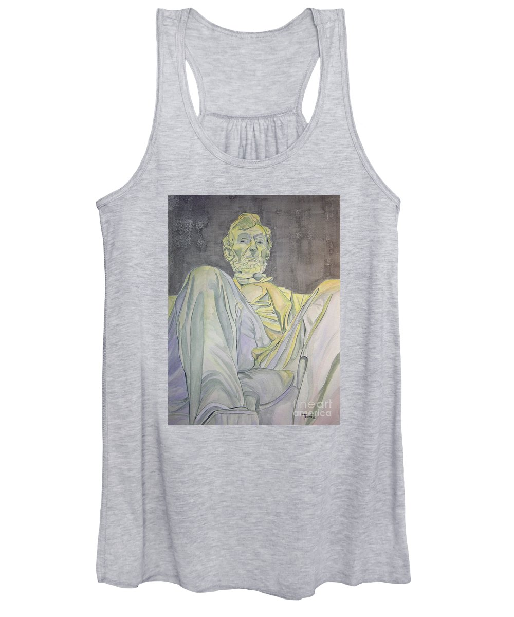 Presidents Women's Tank Top featuring the painting Lincoln by Regan J Smith