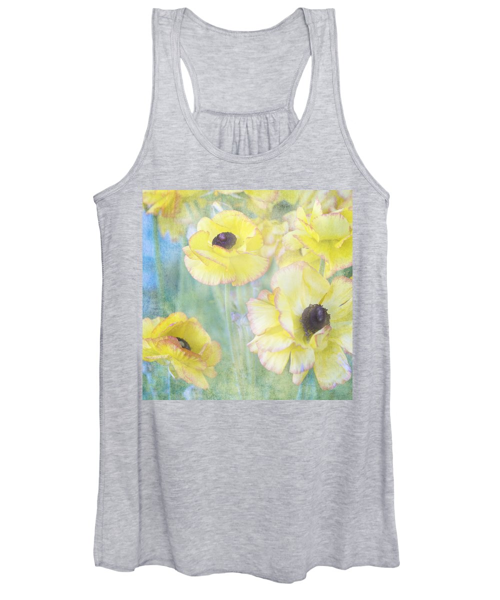 Pastel Flowers Women's Tank Top featuring the photograph Pastel Perfection by Renee Cline