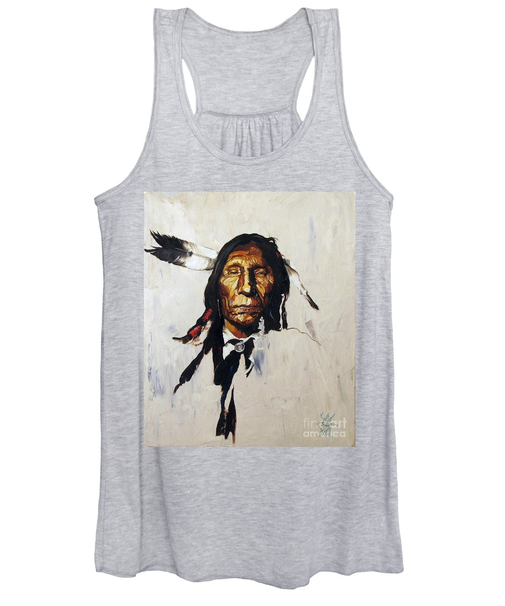 Southwest Art Women's Tank Top featuring the painting Remember by J W Baker