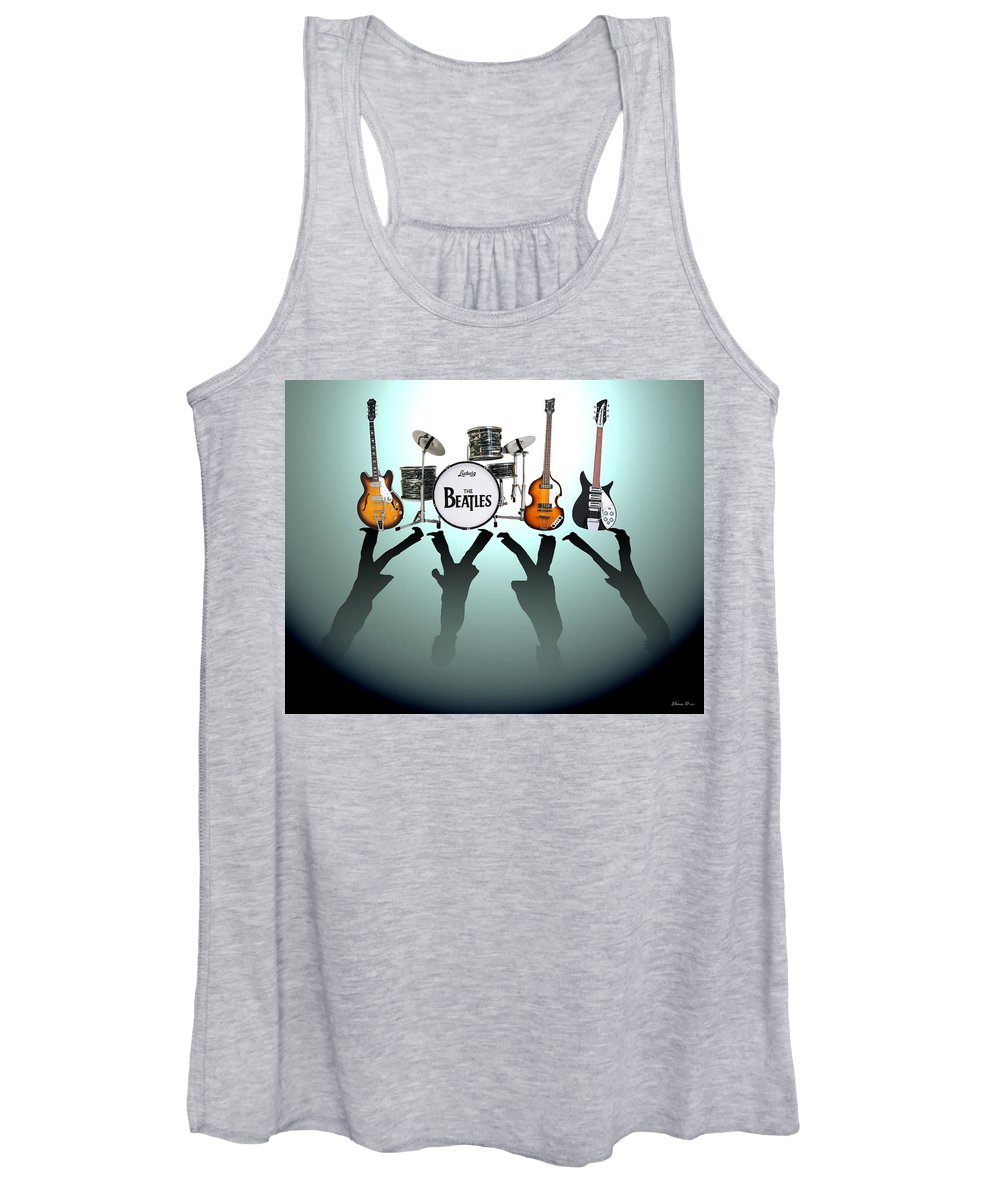 The Beatles Women's Tank Top featuring the digital art The Beatles by Yelena Day