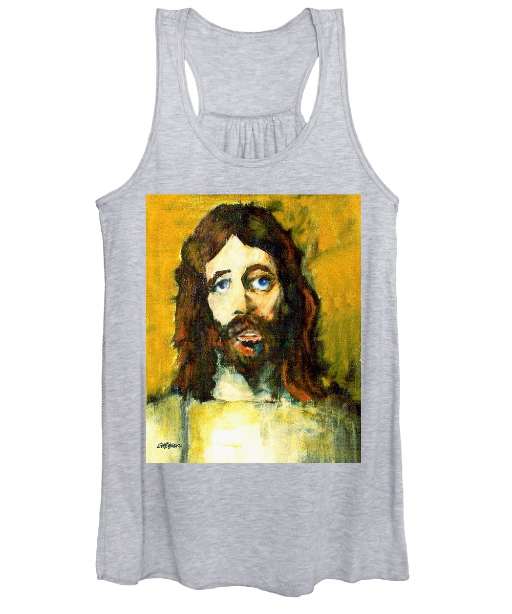 Jesus Christ Women's Tank Top featuring the painting The Galilean by Seth Weaver