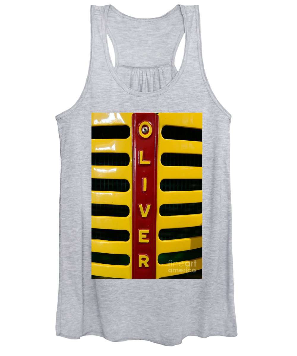 Paul Ward Women's Tank Top featuring the photograph Vintage 1950 Oliver Tractor by Paul Ward