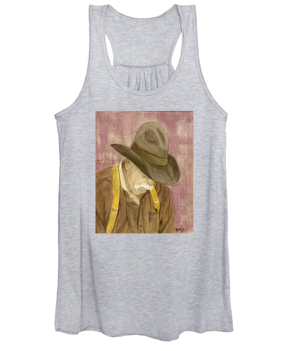 Western Women's Tank Top featuring the painting Walter by Regan J Smith