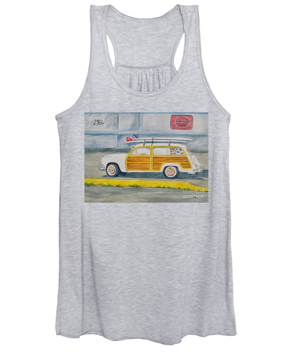 Woody Paintings Women's Tank Top featuring the painting Woody by Regan J Smith