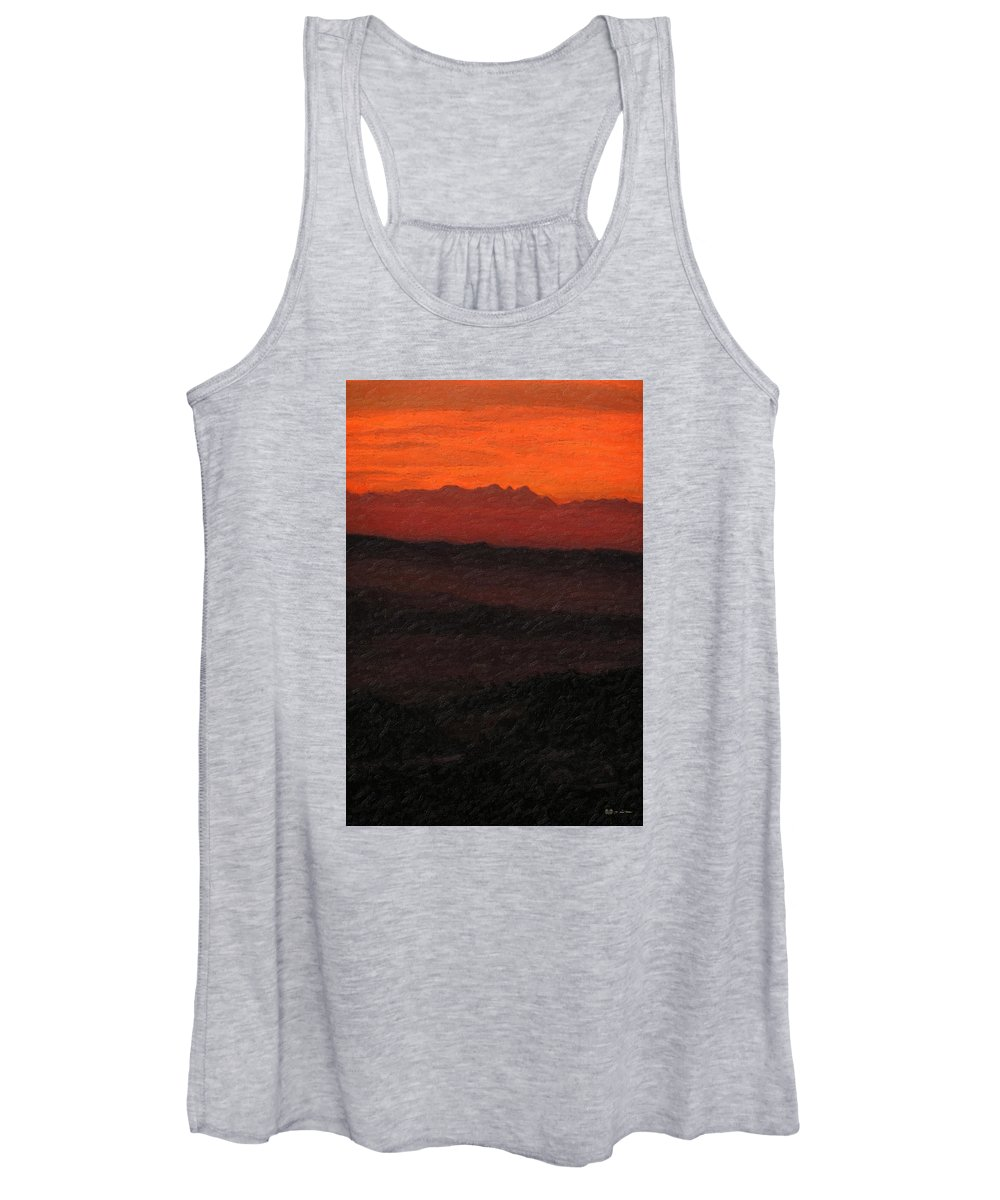 �not Quite Rothko� Collection By Serge Averbukh Women's Tank Top featuring the photograph Not quite Rothko - Blood Red Skies by Serge Averbukh