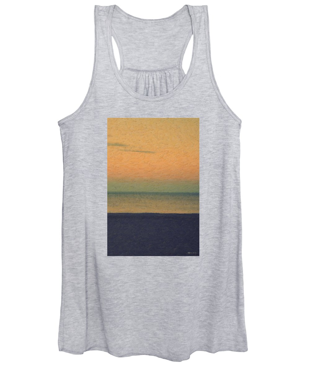 �not Quite Rothko� Collection By Serge Averbukh Women's Tank Top featuring the photograph Not quite Rothko - Breezy Twilight by Serge Averbukh