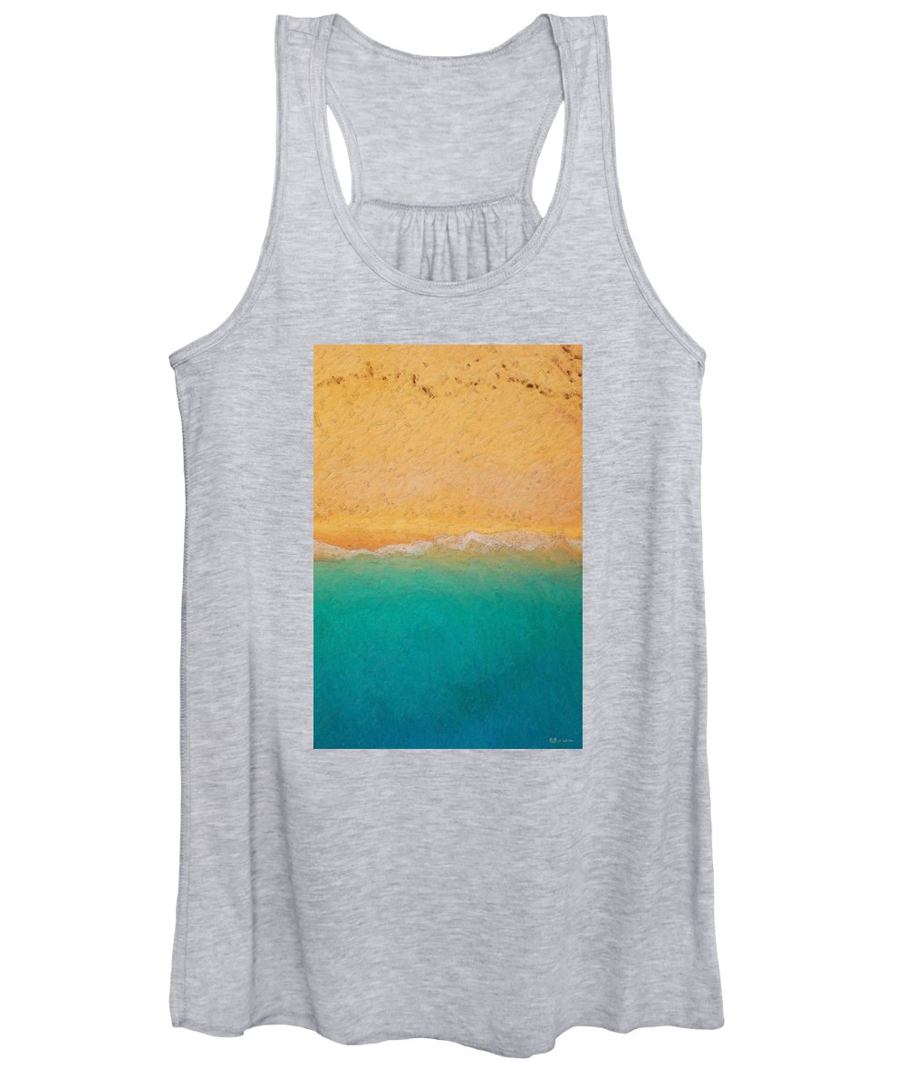 �not Quite Rothko� Collection By Serge Averbukh Women's Tank Top featuring the photograph Not quite Rothko - Surf and Sand by Serge Averbukh