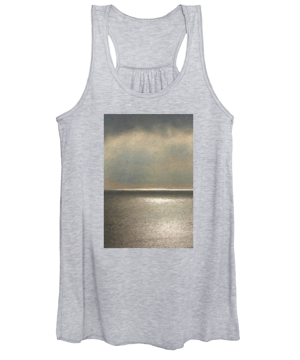 �not Quite Rothko� Collection By Serge Averbukh Women's Tank Top featuring the photograph Not quite Rothko - Twilight Silver by Serge Averbukh