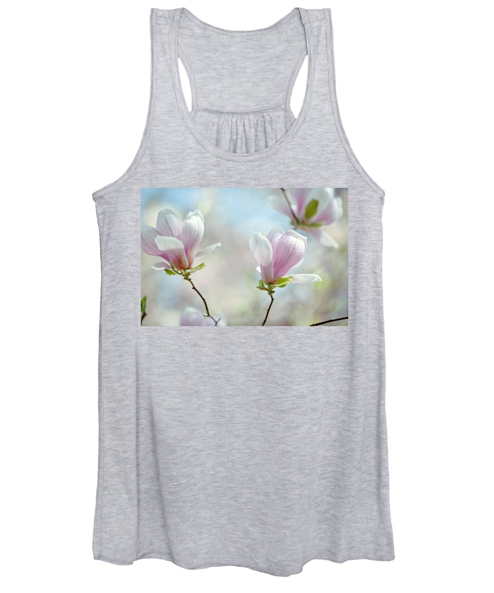 Magnolia Women's Tank Top featuring the photograph Magnolia Flowers by Nailia Schwarz