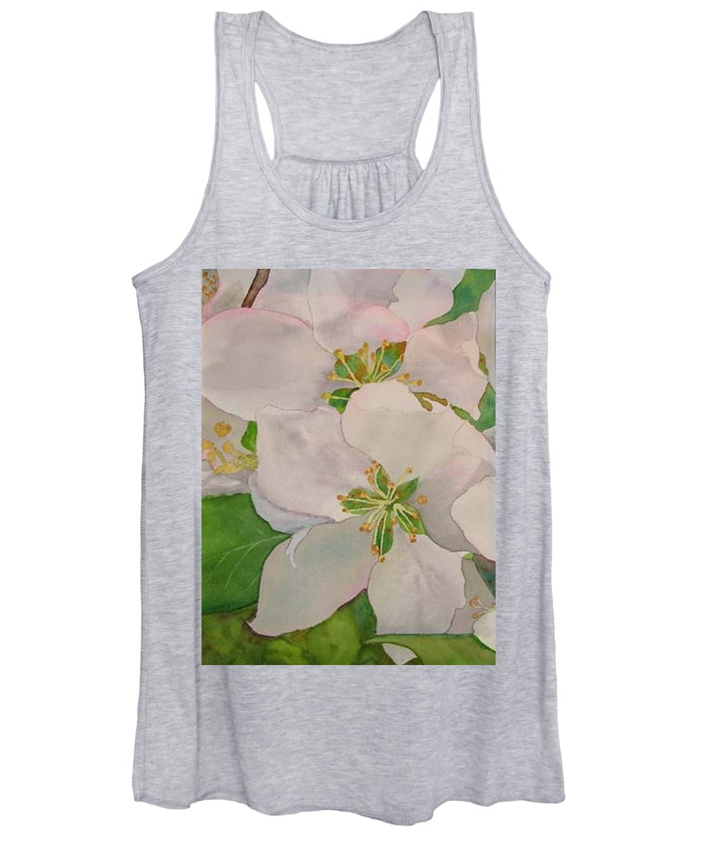 Apple Blossoms Women's Tank Top featuring the painting Apple Blossoms by Sharon E Allen