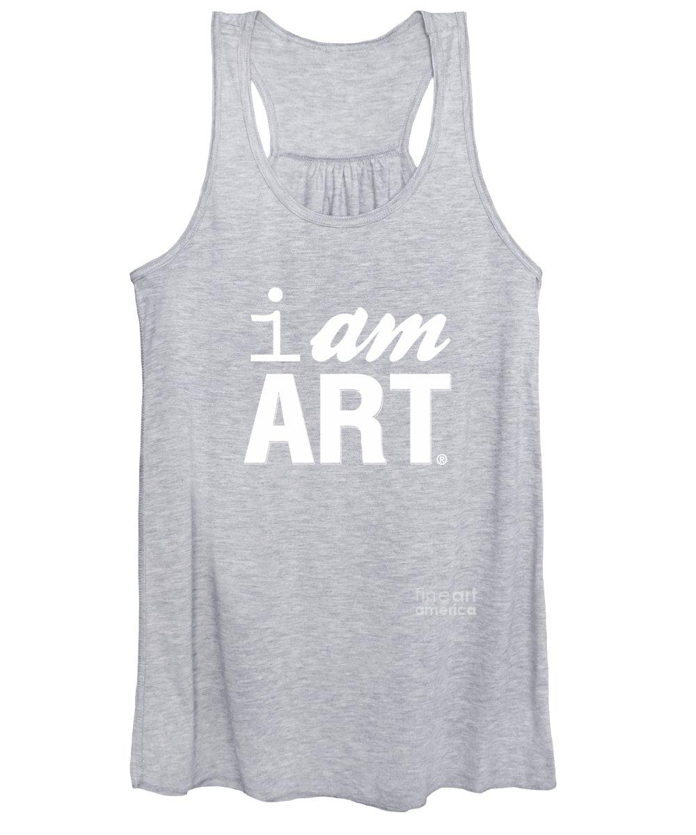 Art Women's Tank Top featuring the digital art I AM ART- Shirt by Linda Woods