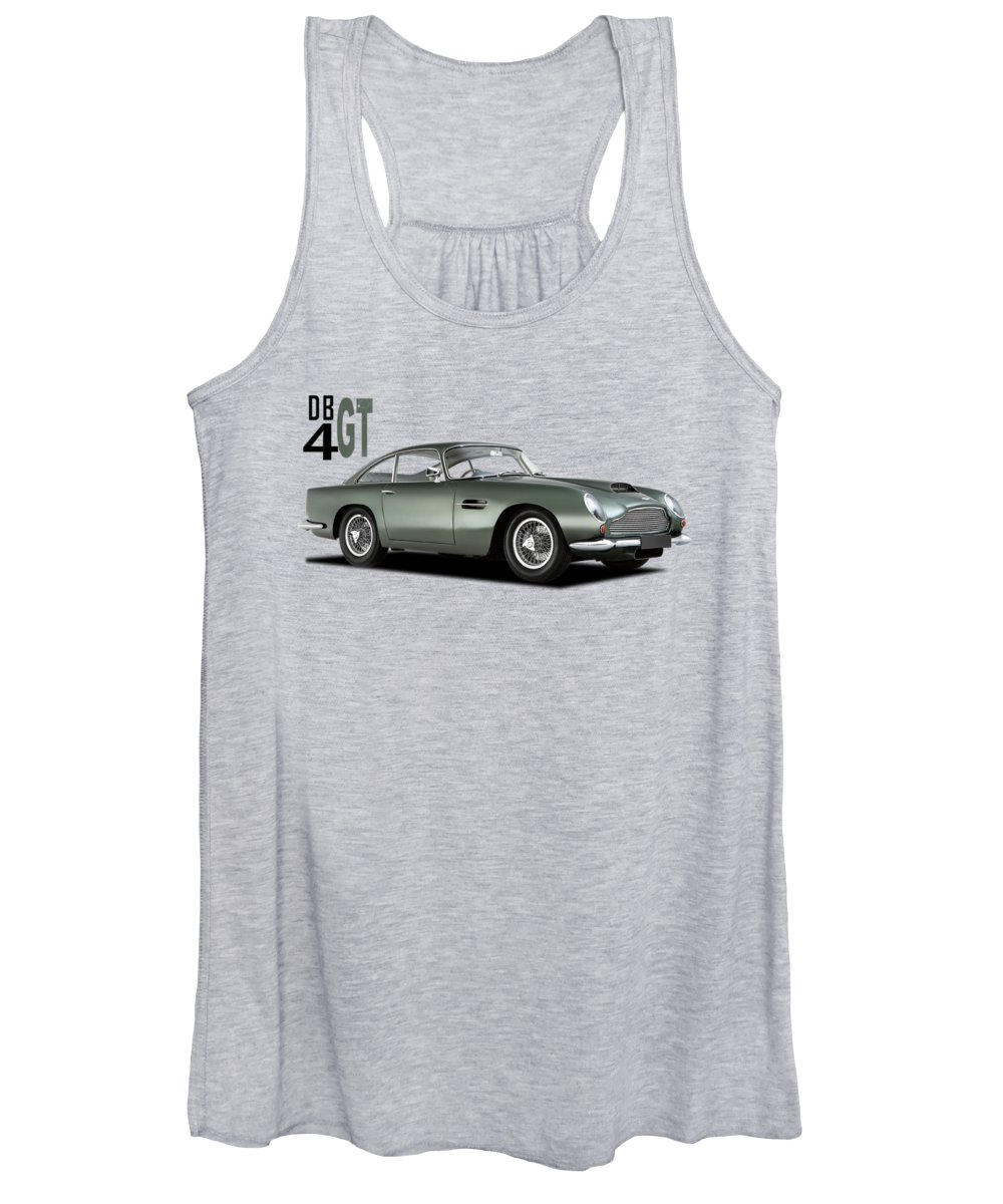 Aston Martin Db4gt Women's Tank Top featuring the photograph The Db4gt by Mark Rogan