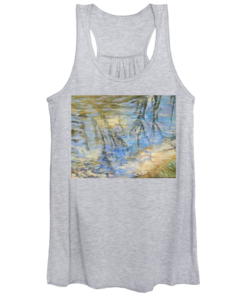 Water Women's Tank Top featuring the painting Big Creek by Denise Ivey Telep