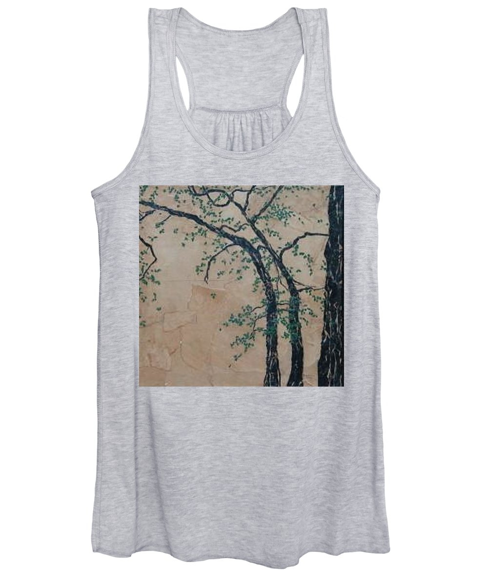 Leafy Tree Women's Tank Top featuring the painting Canandaigua Lake by Leah Tomaino