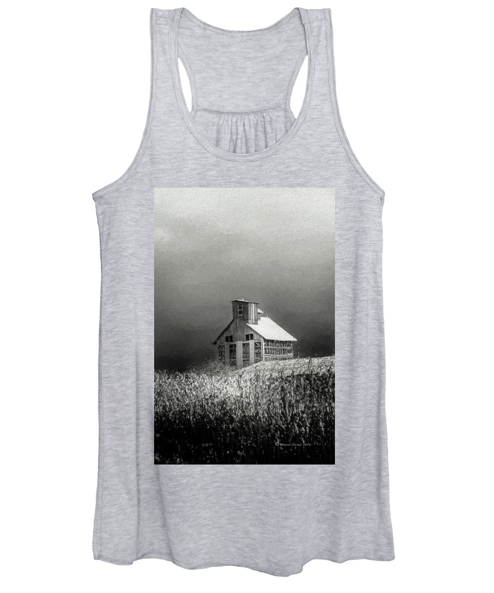 Grain Women's Tank Top featuring the photograph Cattle Feed For The Winter by Marvin Spates