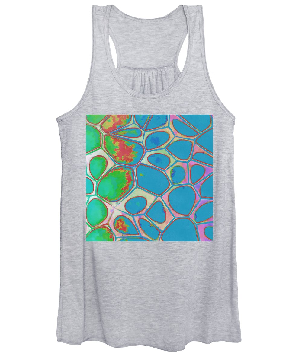 Painting Women's Tank Top featuring the photograph Cells Abstract Three by Edward Fielding